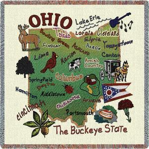 Ohio State Throw - Square