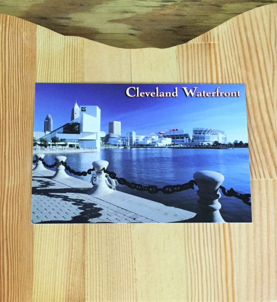 postcard Cleveland waterfront