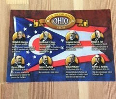 postcard ohio presidents
